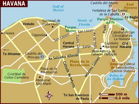 map of havana